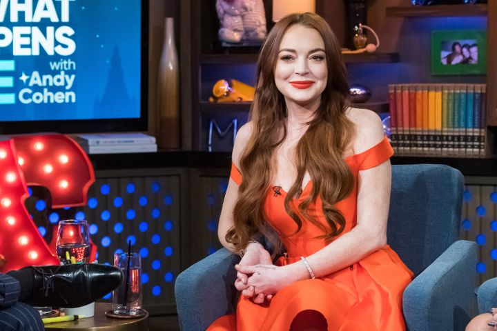 """Lohan appears on Andy Cohen's """"Watch What Happens Live."""""""