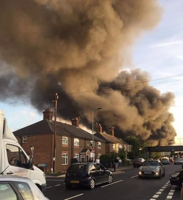 Hotpoint Fire In Peterborough: Firefighters Battle Large Blaze At Factory