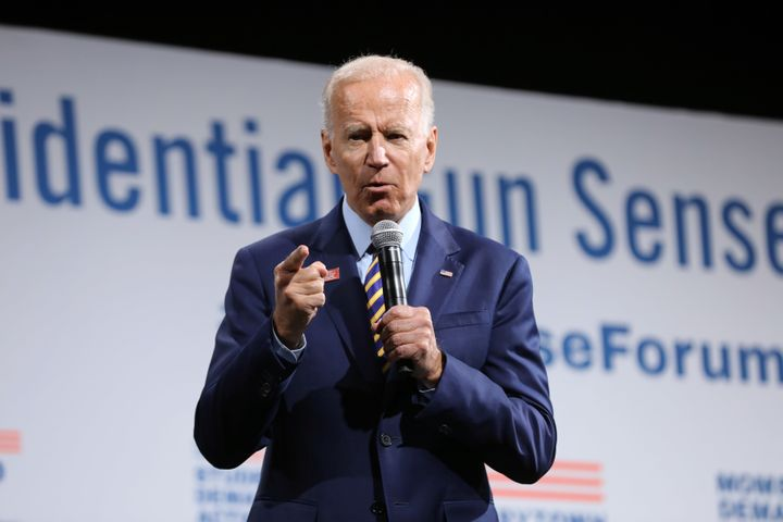 Biden's presidential campaign team has asked that the video be removed, saying it misrepresents his position.