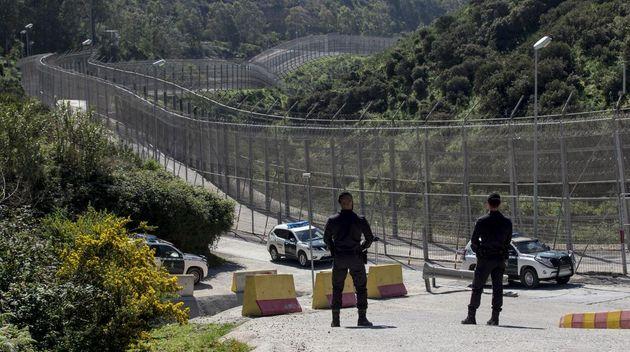 La valla fronteriza de Ceuta, en una imagen de