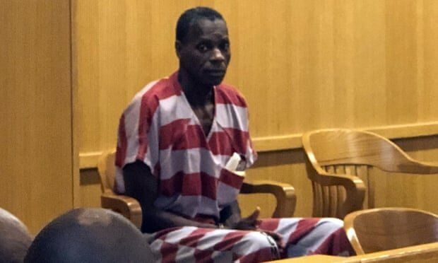 Alvin Kennard sits in the courtroom before his hearing in Bessemer, Alabama, on 28 August. Photograph: Ivana Hrynkiw/AP
