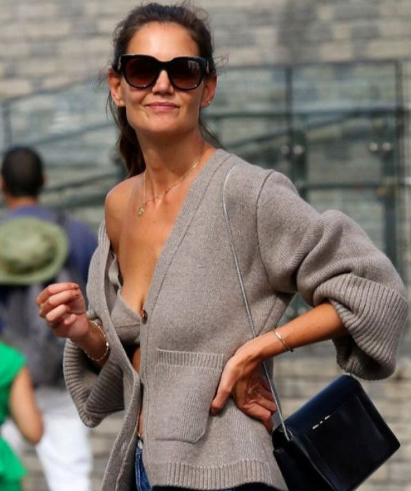 6 Chunky Cardigans Inspired By Katie Holmess Cashmere Number