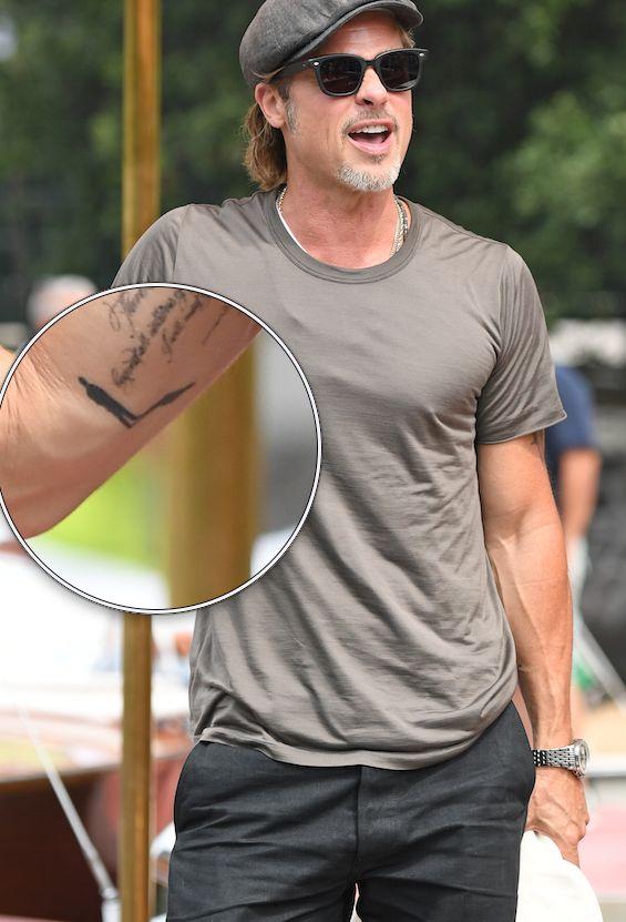 Brad Pitt se ha hecho un nuevo tatuaje y estas son las tres principales teorías que lo