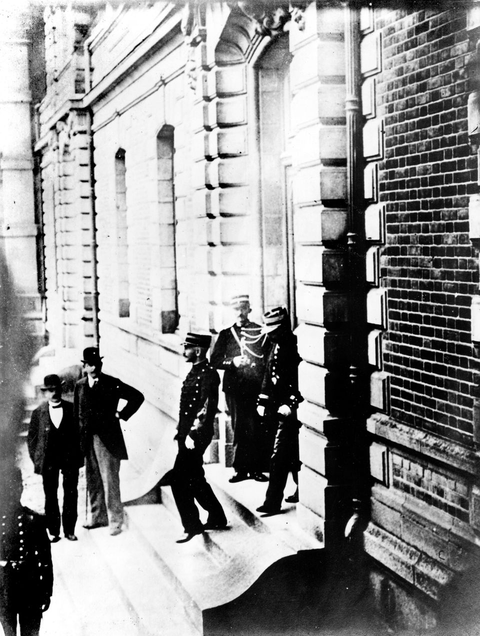 Alfred Dreyfus convicted of treason, here leaving the court, December 22nd, 1894. (Photo by: Photo12/Universal...
