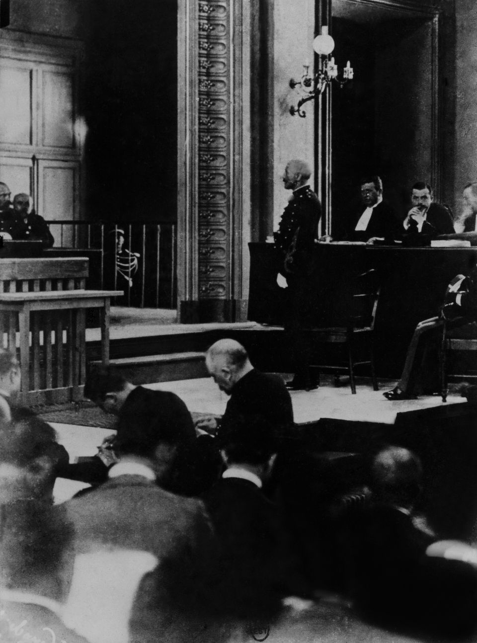 FRANCE - JANUARY 01: Dreyfus Affair Capitain Dreyfus'S Trial In 1899. (Photo by Keystone-France/Gamma-Keystone...