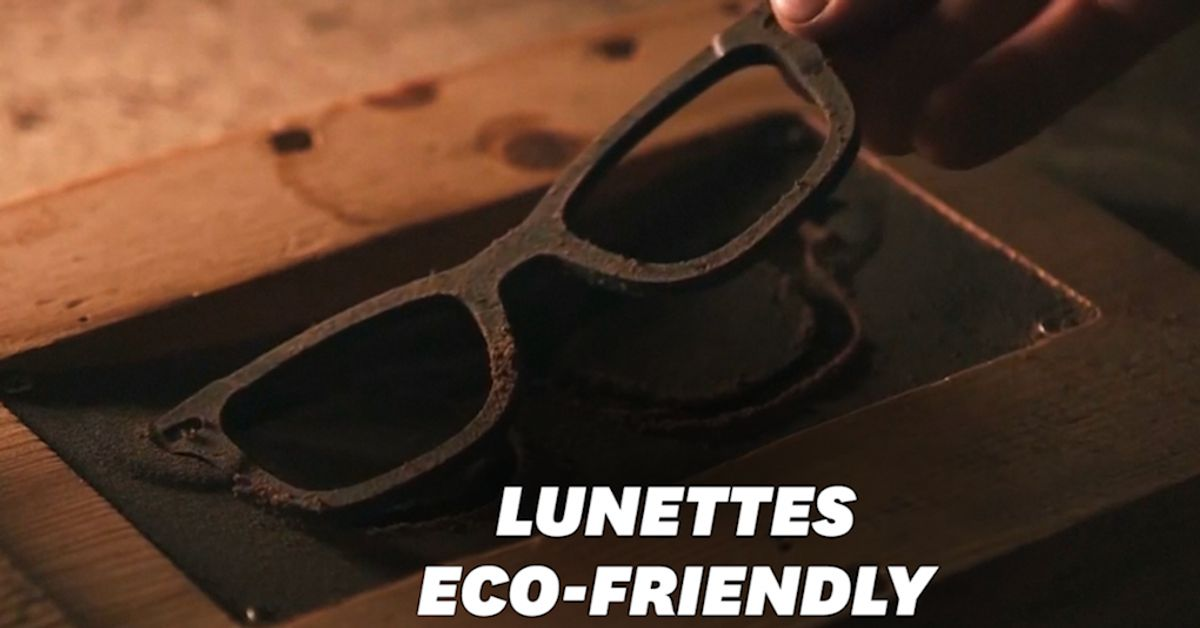 Ces lunettes de soleil sont faites à partir de... marc de café