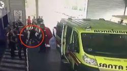 Un preso llega en silla de ruedas al hospital y sale corriendo al ver a la