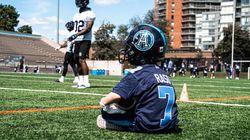 ▶️ Toronto Argos Sign 7-Year-Old Running