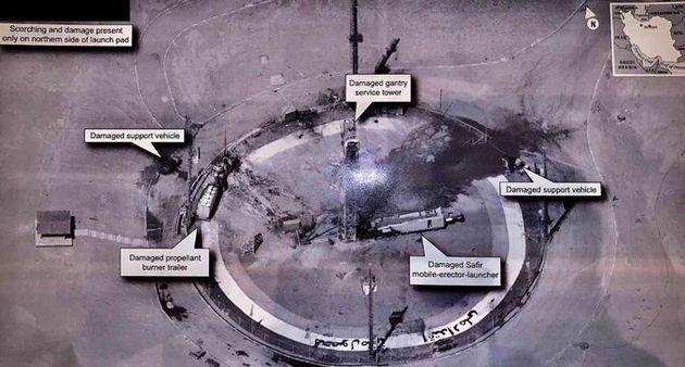 Le président des États-Unis Donald Trump a diffusé cette photo satellite du site...