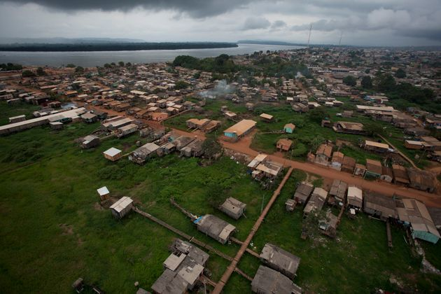 The view of an area due to be flooded by the Belo Monte hydroelectric dam in Pimental, near Altamira...