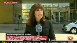 El incidente que ha sufrido esta periodista de TVE en pleno directo: ojo a lo que pasa a la derecha de la