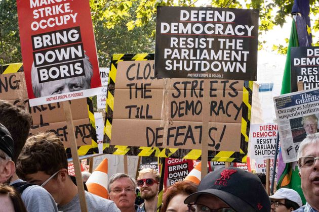 The Best Signs From Todays Stop The Coup Protests Across The UK