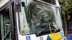 Φωτιά σε λεωφορείο του ΟΑΣΑ - Σοβαρές