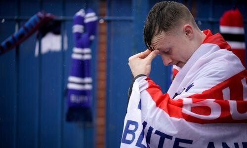 Bury football fan after expulsion of the club from the Football