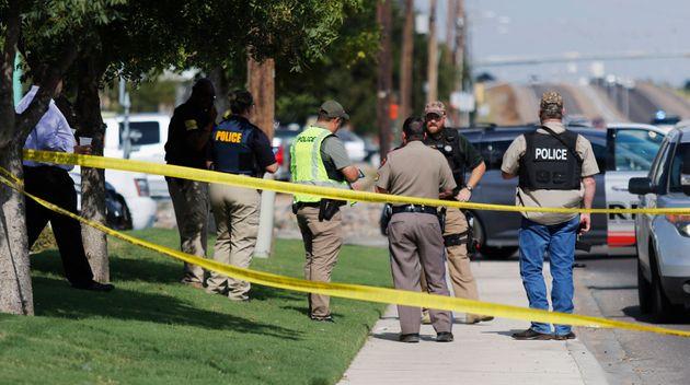 Une fusillade à Odessa au Texas a fait 5 morts et 21 blessés. Photo prise à Odessa...