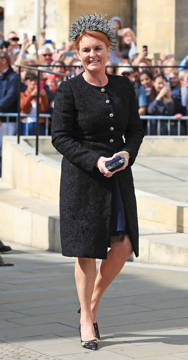 The Duchess Of York pictured outside York