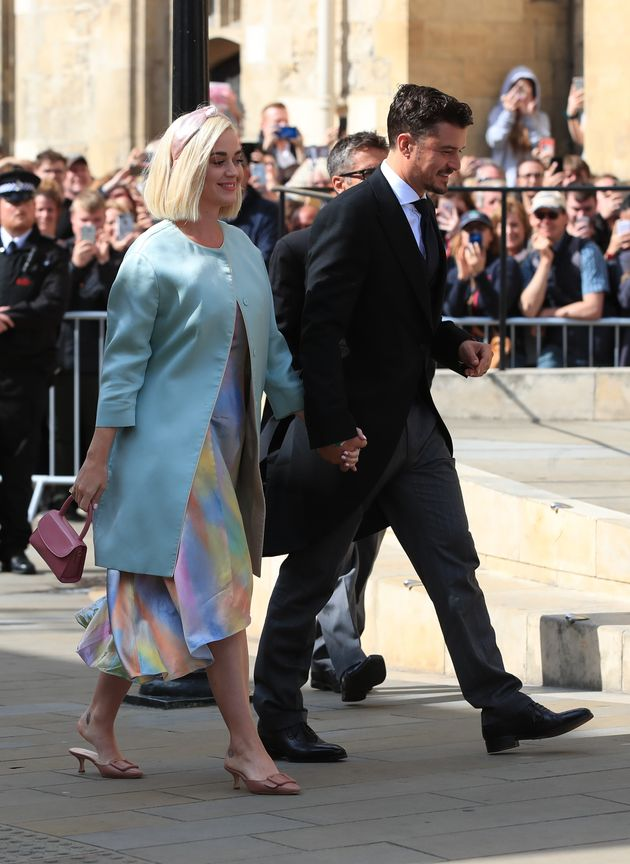 Katy Perry and Orlando Bloom arriving at York
