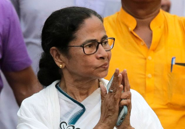 FILE- In this Friday, May 10, 2019 file photo, Trinamool Congress party leader and Chief Minister of...