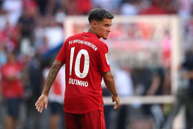 MUNICH, GERMANY - AUGUST 31: Philippe Coutinho of FC Bayern Muenchen looks on after the Bundesliga match...
