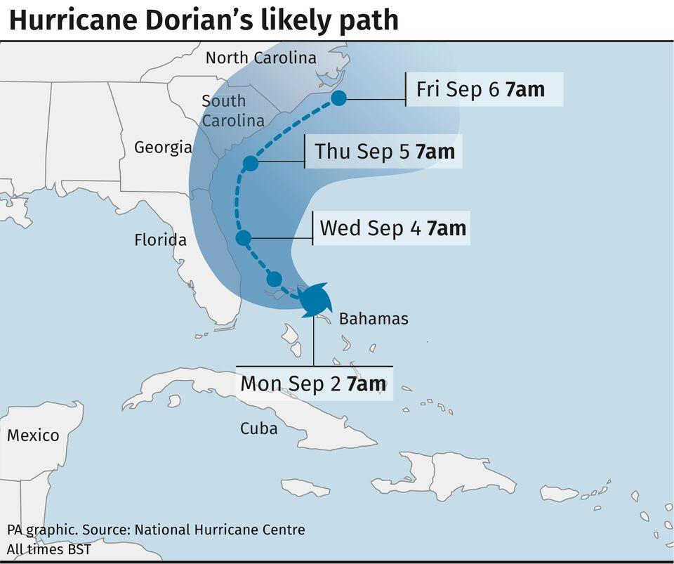 Hurricane Dorian's likely