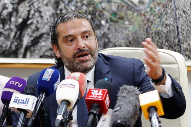 Saad Hariri en conférence de