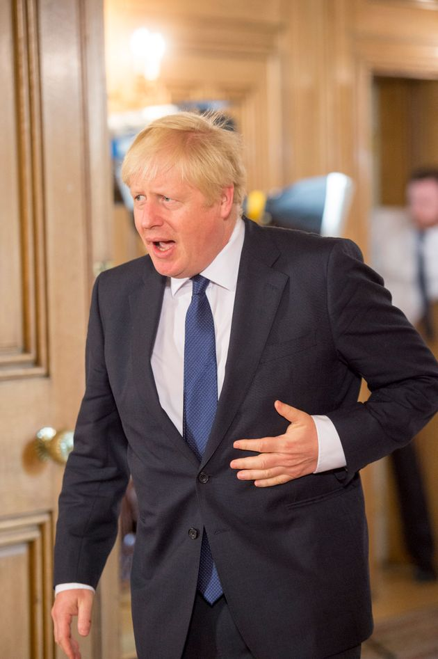 Prime Minister Boris Johnson pictured at Downing Street on