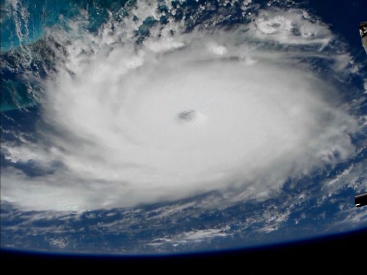 Hurricane Dorian is viewed from the International Space Station on Sunday.