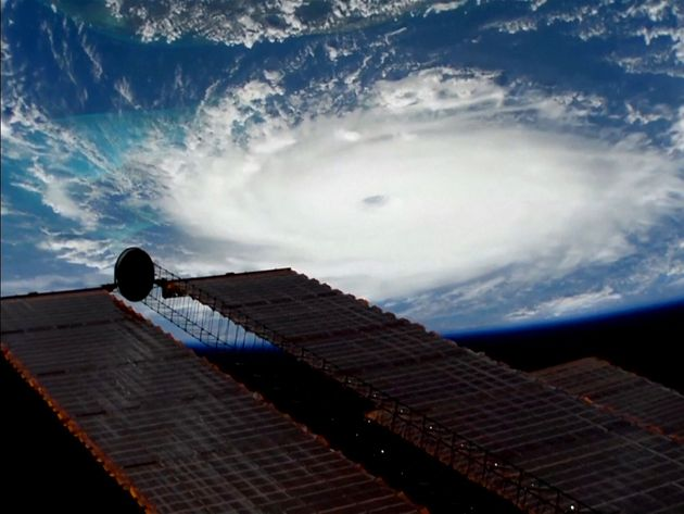 Hurricane Dorian is viewed from the International Space Station September 1, 2019 in a still image obtained...
