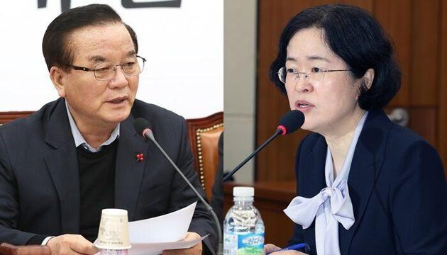 정갑윤 자유한국당 의원(왼쪽), 조성욱