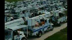 Ces dizaines de camions affluent vers la Floride pour faire face à