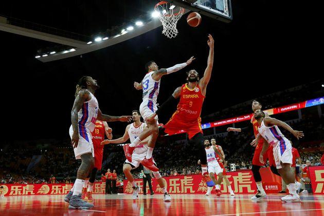 España vence sin brillo a Puerto Rico en el segundo partido del Mundial de baloncesto