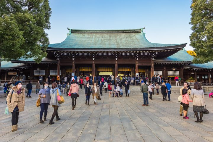 Meiji-jingu shrine.