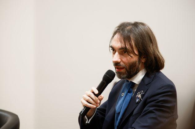 Cédric Villani lors d'une conférence sur l'Intelligence artificielle à l'École...