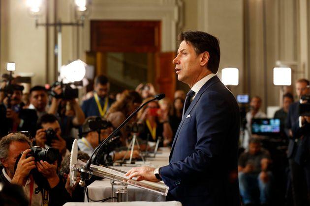 Italian politician Giuseppe Conte during the Quirinale consultations. Rome, August 29th, 2019 (Photo...