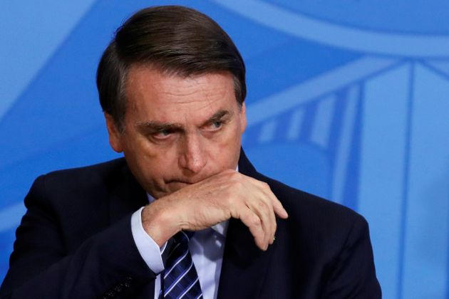 Jair Bolsonaro, ici à Brasilia le 29 août 2019, seraabsent d'un sommet sur l'Amazonie...