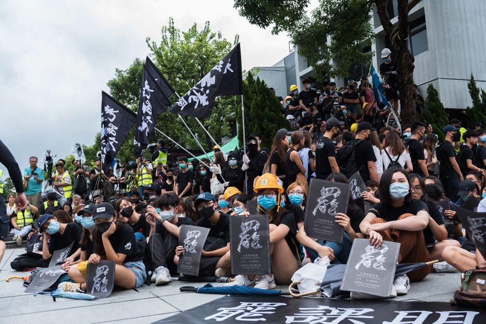 33장의 사진으로 보는 동맹휴학·총파업 나선 홍콩