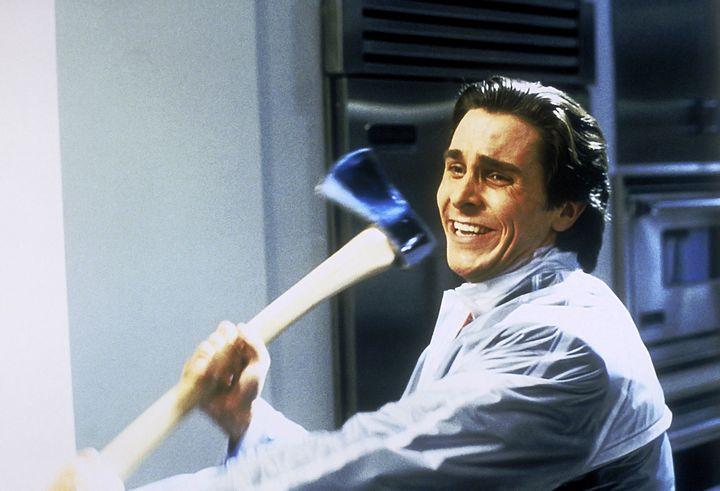 "Christian Bale in ""American Psycho."""