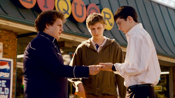 "Jonah Hill, Michael Cera and Christopher Mintz-Plasse in ""Superbad."""
