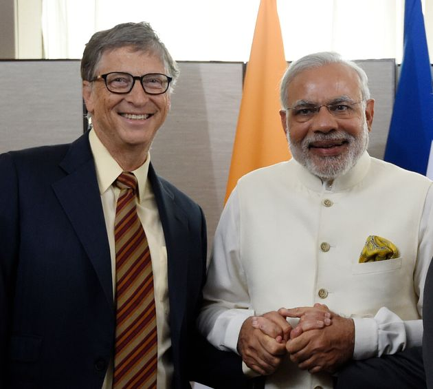 Microsoft CEO Bill Gates, and prime minister Narendra Modi on September 28, in New
