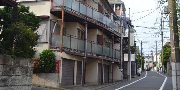 2018年3月に亡くなるまで、船戸結愛ちゃんがくらしていたアパート=東京都目黒区
