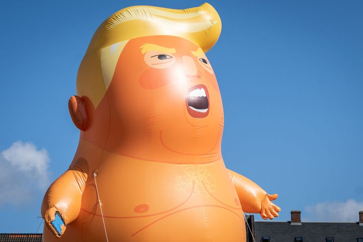 Danish Protesters Welcome Trump Baby Blimp After President Scraps Denmark Trip