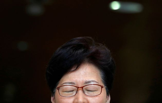 Hong Kong's Chief Executive Carrie Lam holds a news conference in Hong Kong, China, August 27, 2019....