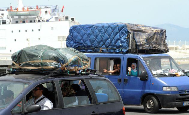 Des MRE arrivent dans le port de Tanger, le 8 juillet