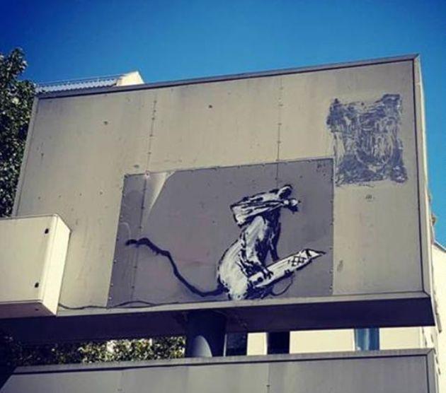 Cette œuvre de Banksy située aux abords du Centre Pompidou a été