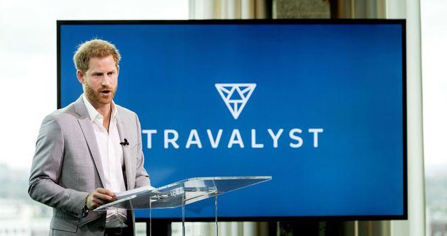 El príncipe Harry durante la presentación de Travalyst en