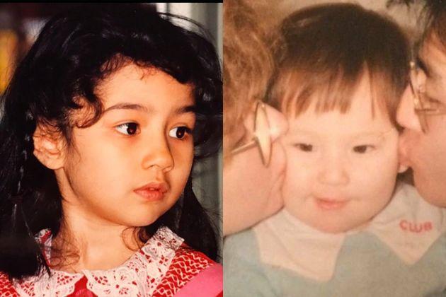 幼少期の小澤ナザニンさんと石井マヤさん(左から)