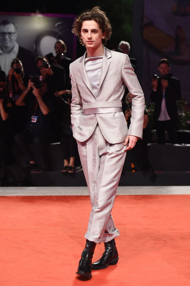 Dream dude Timothée Chalamet in a dream suit at the Venice Film Festival on