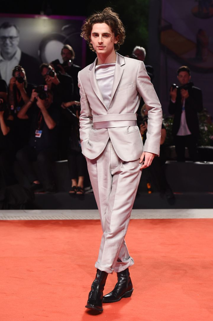 Dream dude Timothée Chalamet in a dream suit at the Venice Film Festival on Monday.
