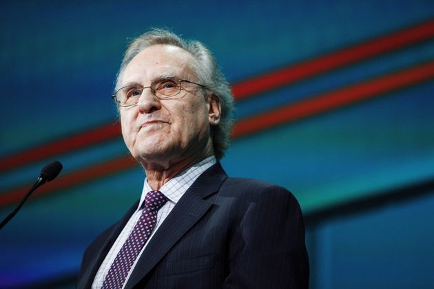 Former Ontario NDP leader Stephen Lewis speaks during the 2016 NDP Federal Convention in Edmonton on...