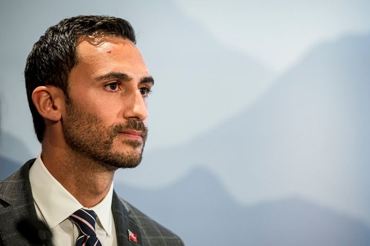 Ontario Minister of Education Stephen Lecce speaks at a press conference in Toronto on Aug. 22, 2019.